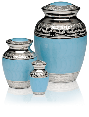 Silver Dove Funeral Cremation Urns 2